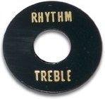 PARTS PLANET LPSWBGD Piastra selettore tipo LP - Nero con scritta Treble/Rhythm