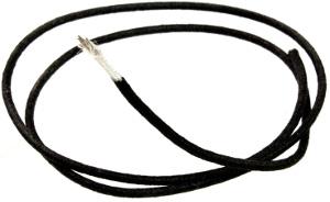 ALLPARTS GW-0820-B23 Cavo per cablaggio cotone Nero Vintage Style - 30 cm