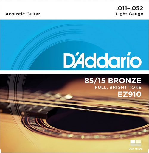 D'ADDARIO CORDE PER CHITARRA ACUSTICA 11 52 EZ910