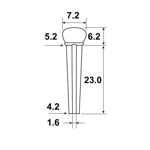 PARTS PLANET HOSCO Set 6 pin per ponte chitarra acustica in palissandro