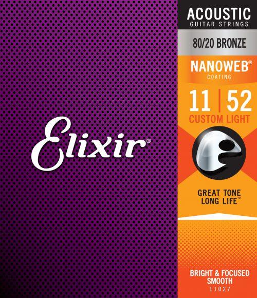 ELIXIR CORDE PER CHITARRA ACUSTICA 11 52 BRONZE NANOWEB 11027