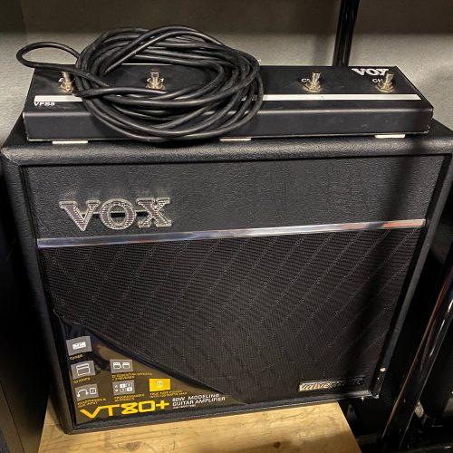 VOX VALVETRONIX VT80+ AMPLIFICATORE COMBO PER CHITARRA + FOOTSWTICH VF5 USATO