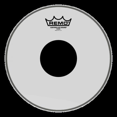 """REMO PELLE CONTROLLED SOUND TRASPARENTE CON DOT NERO CENTRALE 10"""""""