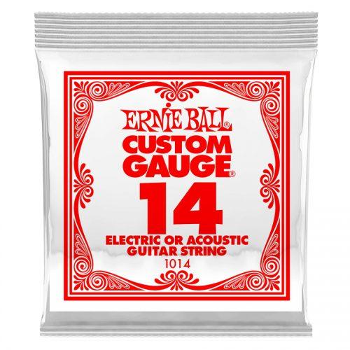 Ernie Ball corda singola 1014 Plain Steel .014