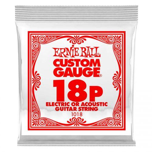 Ernie Ball corda singola 1018 Plain Steel .018