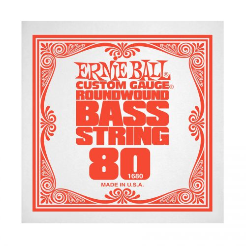 Ernie Ball corda singola 1680 Nickel Wound Bass .080