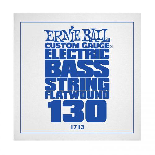 Ernie Ball corda singola 1713 Steel Flatwound Bass .130