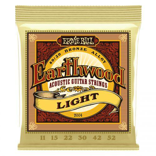 Ernie Ball muta di corde 2004 Earthwood 80/20 Bronze Light 11-52