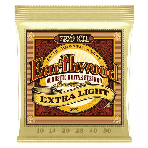 Ernie Ball muta di corde 2006 Earthwood 80/20 Bronze Extra Light 10-50