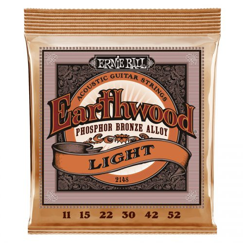 Ernie Ball muta di corde 2148 Earthwood Phosphor Bronze Light 11-52