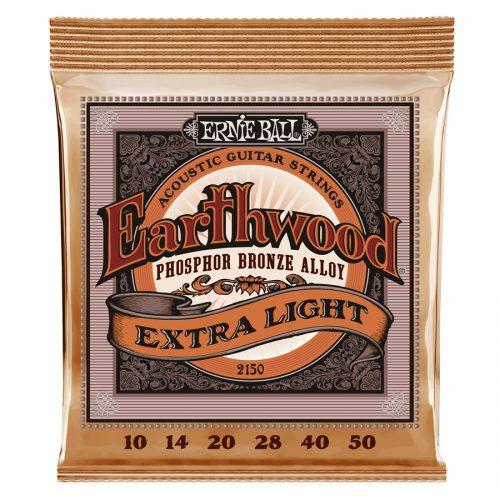 Ernie Ball muta di corde 2150 Earthwood Phosphor Bronze Extra Light 10-50