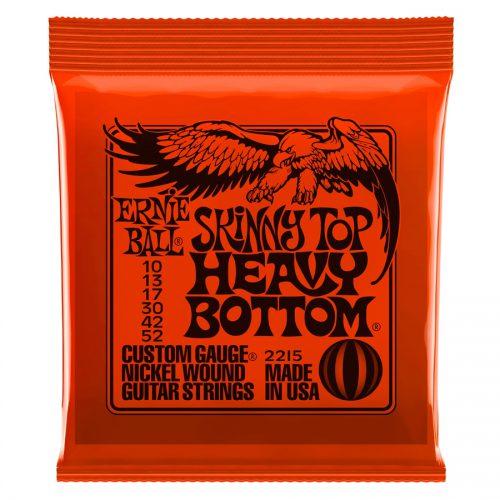 Ernie Ball muta di corde 2215 Nickel Wound Skinny Top Heavy Bottom Slinky 10-52