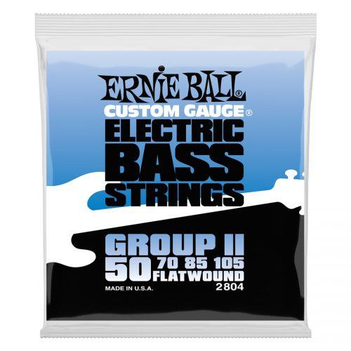 Ernie Ball muta di corde 2804 Flatwound Group II 50-105
