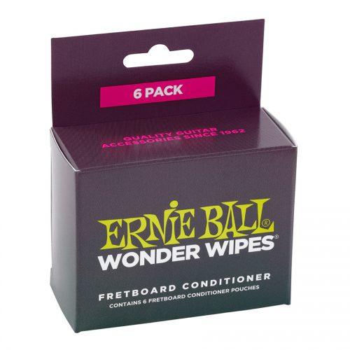 Ernie Ball Fretboard Conditioner Wonder Wipes Confezione da 6