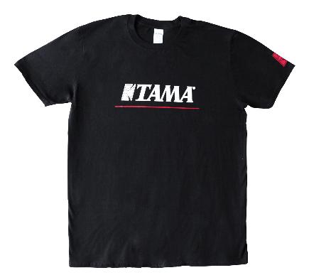 TAMA T-SHIRTS LOGO W/REDLINE BK L