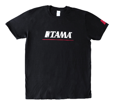 TAMA T-SHIRTS LOGO W/REDLINE BK M