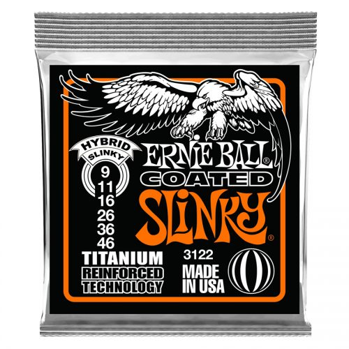 Ernie Ball muta di corde 3122 RPS Coated Titanium Hybrid Slinky 9-46