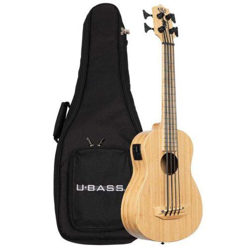 Kala UBASS basso ukulele Bamboo elettrificato con borsa