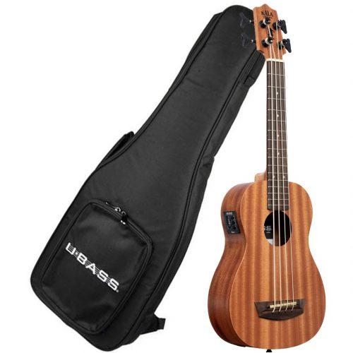 Kala UBASS basso ukulele wanderer elettrificato con borsa