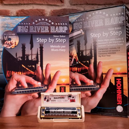 HOHNER BIG RIVER STEP BY STEP PACK: ARMONICA + MANUALE IN ITALIANO