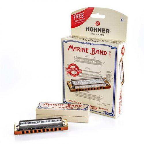 HOHNER MARINE BAND 125TH ANNIVERSARY C BOX - ARMONICA A BOCCA IN DO