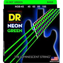 DR CORDE PER BASSO NEON 45 105 GREEN VERDI