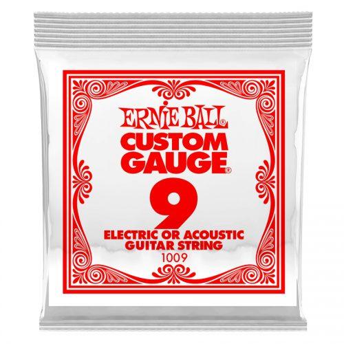 Ernie Ball corda singola 1009 Plain Steel .009
