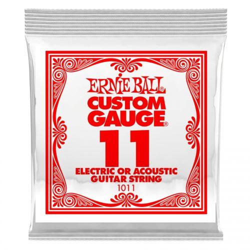 Ernie Ball corda singola 1011 Plain Steel .011