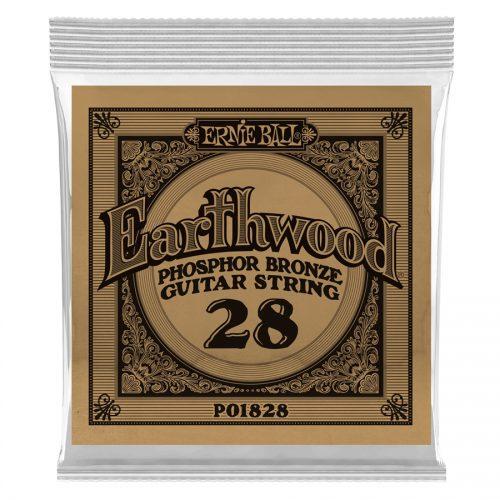 Ernie Ball corda singola 1828 Earthwood Phosphor Bronze .028